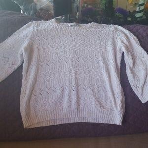 Light white sweater # w15